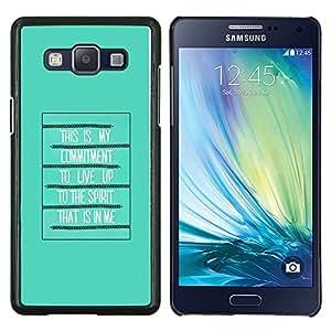 Stuss Case / Funda Carcasa protectora - Biblia Espíritu Santo Cita Cartel Dios Verde - Samsung Galaxy A5 ( A5000 ) 2014 Version