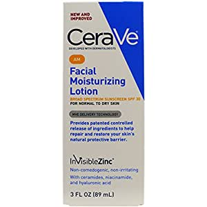 CeraVe Moisturizing Facial Lotion AM, SPF 30, 3 Ounce