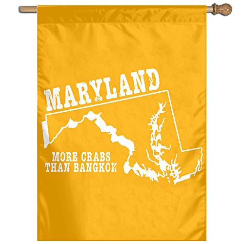 Maryland State Motto More Crass Than Bangkok Flag Outdoor Patio Seasonal Holiday Fabric 27