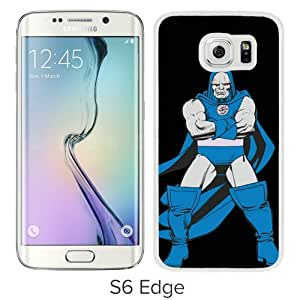 High Quality S6 Edge Case,Darkseid & The Omega Force White Samsung Galaxy S6 Edge Screen Phone Case Unique and Fashion Design