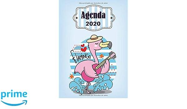 Agenda 2020 Flamingo: Tema Flamingos Agenda Mensual y ...