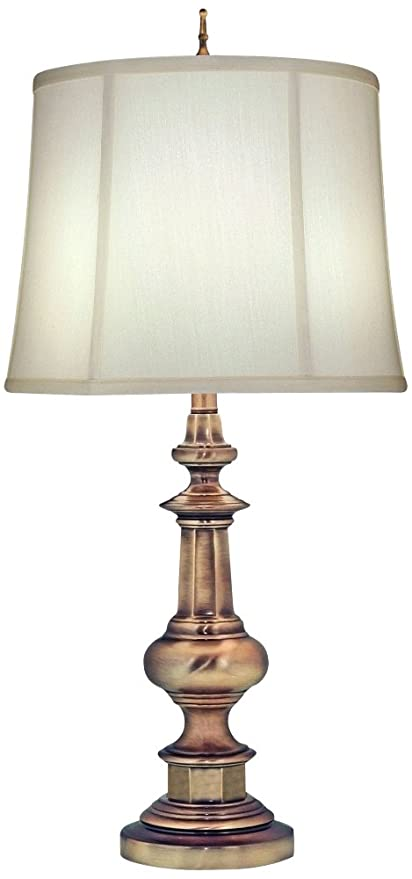 Merveilleux Stiffel TL N6561 AB One Light Table Lamp, Antique Nickel Finish With Ivory