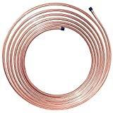 25 ft 3/8 in Fuel, Transmission Copper Nickel Tubing Coil - Replacement Line is Flexible & Easy to Bend (.028) Wall Thickness - (5,955 PSI) BP
