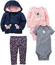 Simple Joys by Carter's Baby Girls' 4-Piece Jacket, Pant, and Body