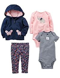 Simple Joys by Carter's Baby Girls' 4-Piece Jacket, Pant, and Bodysuit Set