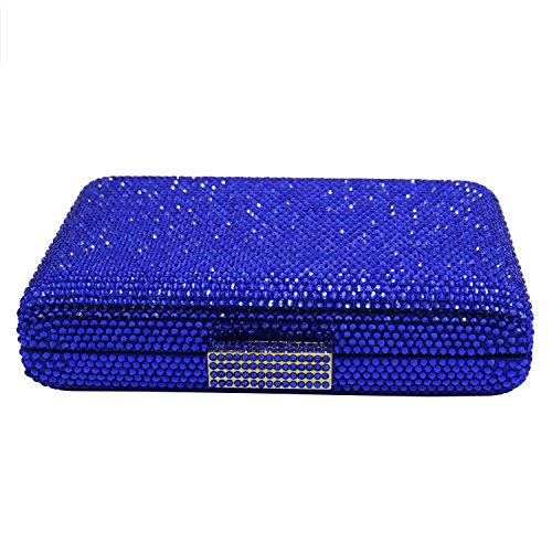 Square Womens Bags and Shape DMIX Clutches Evening Blue Crystal OZ5wq