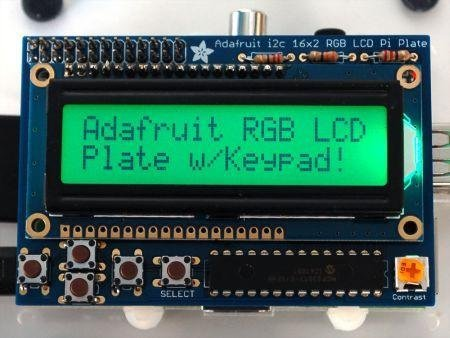 Adafruit Industries,RGB Positive 16x2 LCD + Keypad Kit For Raspberry Pi