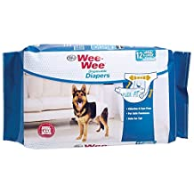 Four Paws 100523067 Wee-Wee Products Disposable Dog Diapers (12 Pack), Large/X-Large