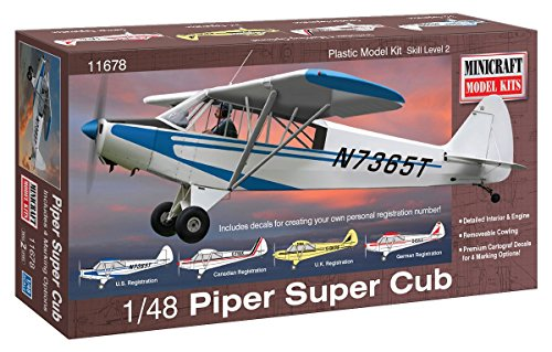 Minicraft Piper Super Cub Airplane Model Kit 1/48 Scale