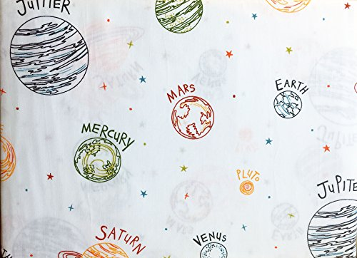 Red Solar Earth (Kids Sheet Set Planets Solar System 4 Piece Full Size Double Bed Authentic Kids Blue Green Orange Red Yellow White)