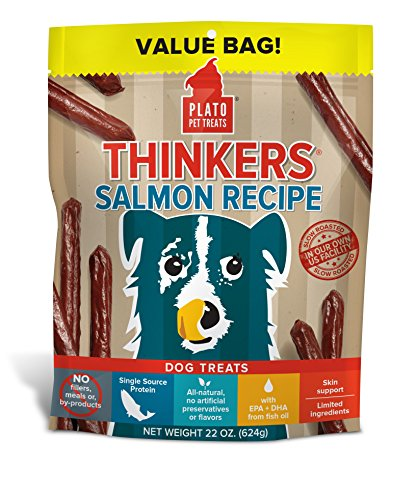 Plato Dog Treats -- Pacific Salmon -- Pet Treats, All-Natural, Non-Gmo, No Artificial Flavors, Or Preservatives, Made In The Usa