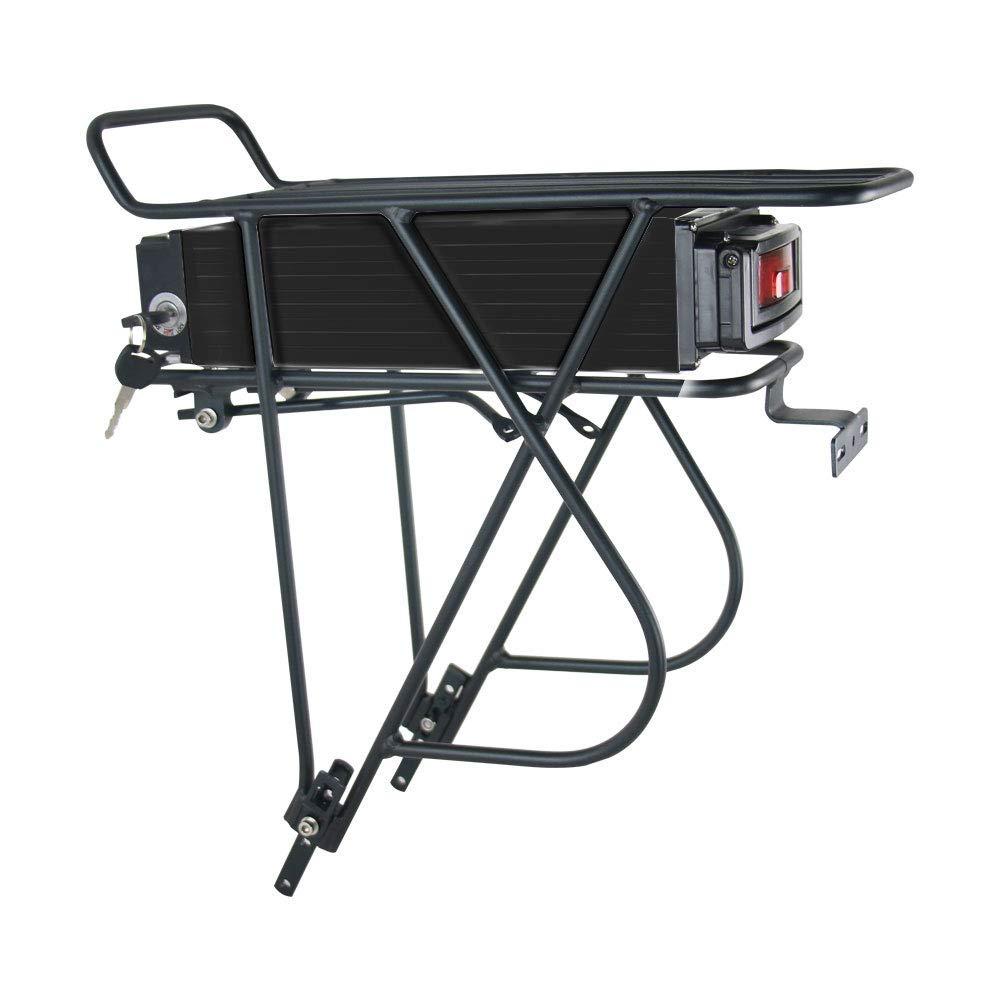 bater/ía de Ion de Litio para Bicicleta el/éctrica con Cargador luz Trasera X-go 48V 20AH Ebike bater/ía BMS y Pantalla de Potencia para Motor de 1000 W