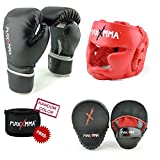 martial arts belt display twelve - MaxxMMA Pro Style Boxing Gloves 12,14,16 oz + Red Headgear + Pro Mitts +180