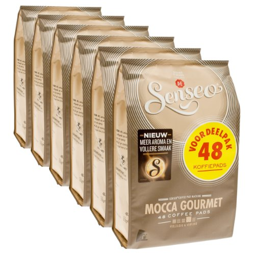 Senseo Mocca Gourmet, New Design, Pack of 6, 6 x 48 Coffe...