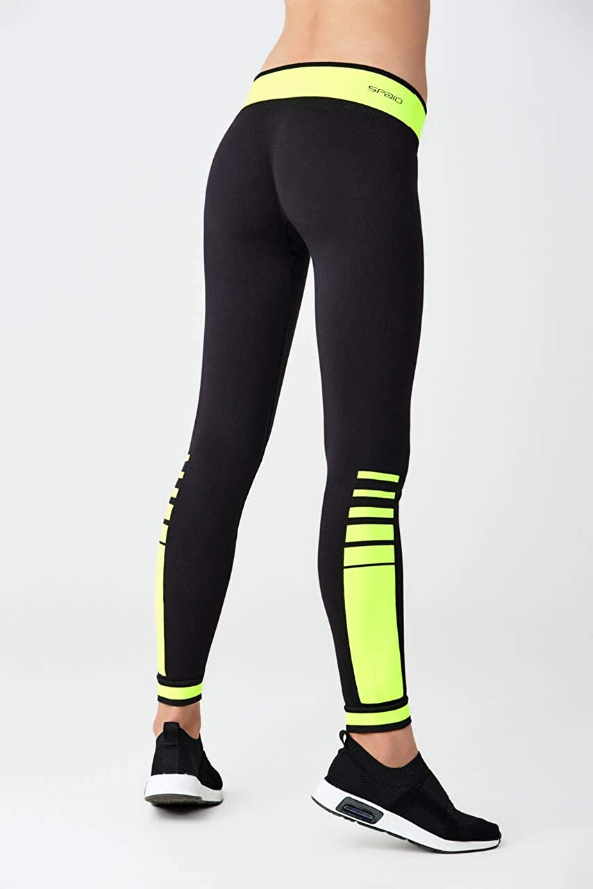 Selente fit for Fun Fitness-Outfit Sport-Top und Shorts in Seamless-Technologie mit Leggins Made in Italy Sport-BH
