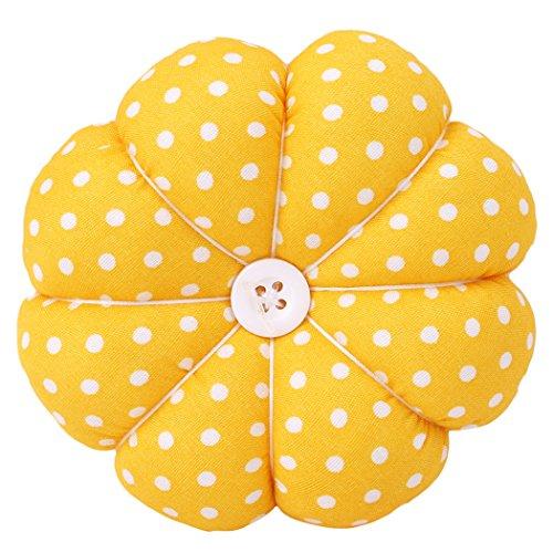 LALANG Wrist Pin Cushion Polka Pumpkin Wrist Band Pin Cushions Wearable Pincushions for Sewing ()