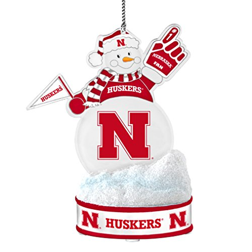 NCAA Nebraska Cornhuskers LED Snowman Ornament