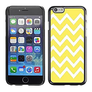 Graphic4You Chevron Pattern Design Hard Case Cover for Apple iPhone 6 (Yellow)