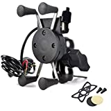 Universal Motorcycle Mount Holder Bike Bicycle Handlebar For iPhone, Samsung and GPS Device