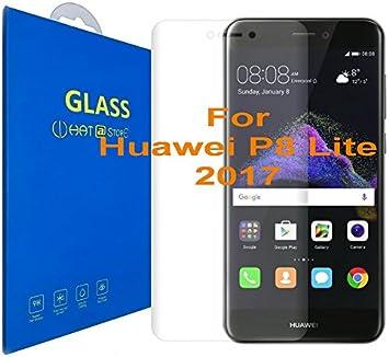 Huawei P8 Lite (2017) - Curvo 3D Cristal Templado Protector de ...