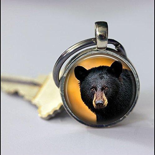 Keychain Vintage Black Bear Keychain,Vintage Animal Art Pendant Key Chain,Handmade Keychain,Vintage Jewelry,Fashion Jewelry for Women Or Men
