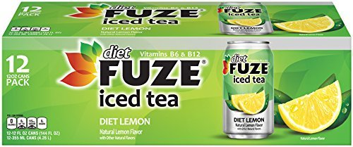 Fuze Diet Lemon Iced Tea 12 Ct (Pack of 2)