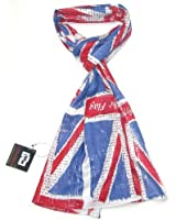 """Union Jack Scarf - Official IWM Union Jack Scarf with """"Rally round the flag"""" and other slogans printed all over the scarf"""