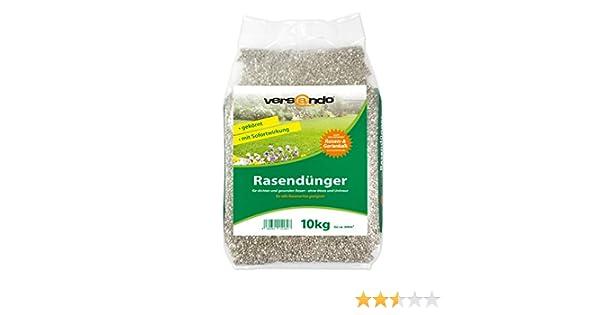 Fertilizante de césped a partir de tan solo 1,29 €/kg – marca versando – 10 kg para aprox. 300 m² de césped verde – sin musgo o malas hierbas, abono ...