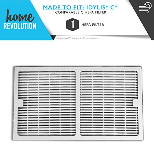 Idylis Part # IAF-H-100C for Idylis Air Purifiers IAP-10-200 and IAP-10-280 Models, Comparable C HEPA Air Purifier Filter. A Home Revolution Brand Quality Aftermarket Replacement