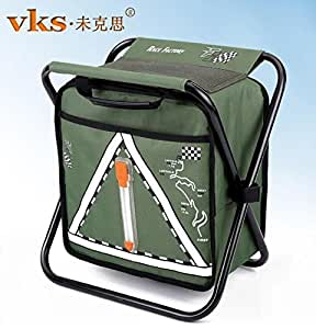 Camping hunting fishing backpack folding stool with cooler for Fishing backpack amazon
