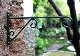 "12"" X 6"" Indoor Outdoor Green Metal Iron Wall"