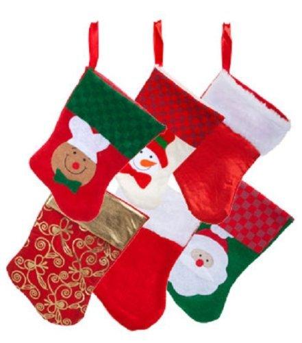 6 Pairs: Christmas House Mini Stockings 12 Count Packs