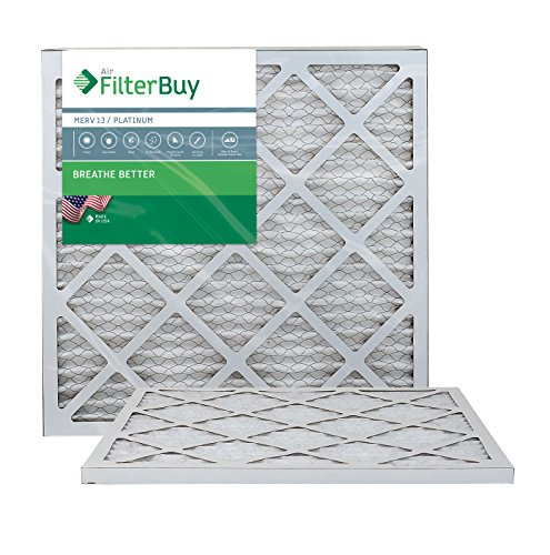 AFB Platinum MERV 13 21x22x1 Pleated AC Furnace Air Filter. Pack of 2 Filters. 100% produced in the USA.