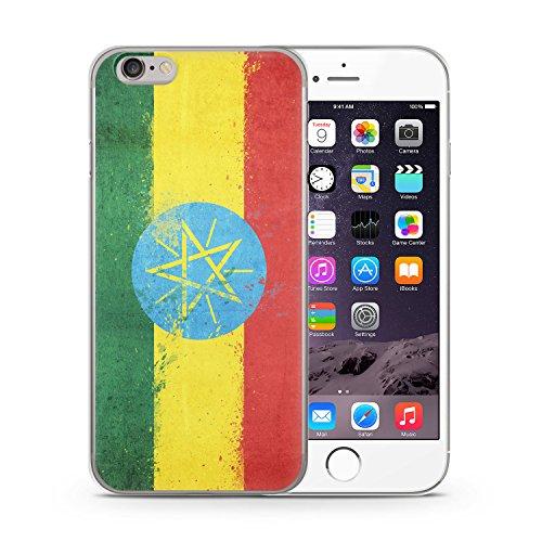Äthiopien Grunge iPhone 6 & 6S SLIM Hardcase Hülle Cover Case Schutz Schale Flagge Flag Ethiopia