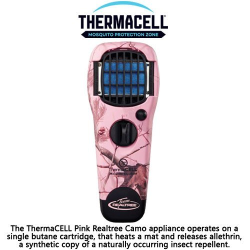 Realtree Thermacell Mosquito Repellent (ThermaCell Mosquito Repellent Appliance - Pink Realtree Camo)