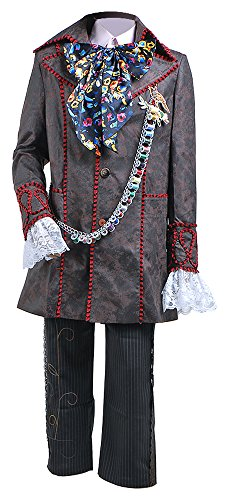 Johnny Depp As The Mad Hatter (Cosdaddy® Mens Cosplay Costume Halloween Outfit (Man-L))
