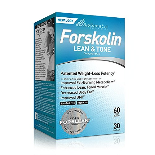 BioGenetic Labs Forskolin Lean & Tone - Weight Loss and Body Toning Formula - Fat Loss and Maintenance of Muscle Mass - 60 Capsules - Vegetarian