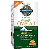 Garden of Life Vegan DHA Supplement - Minami Algae Omega 3 Natural Eye and Brain Function Supplement, 60 Softgels