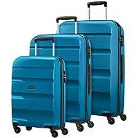 American Tourister Bon Air Spinner - Juego de maletas (3 a 55 cm + 66 cm + 75 cm), color azul