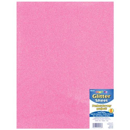 "Brand New Glitter Foam Sheet 9""X12"" 2mm-Pink Brand New"