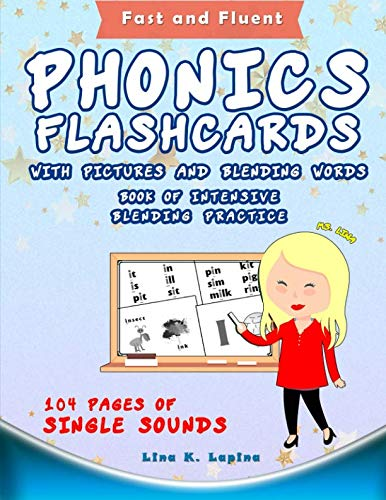 (Phonics Flashcards with Pictures and Blending Words)