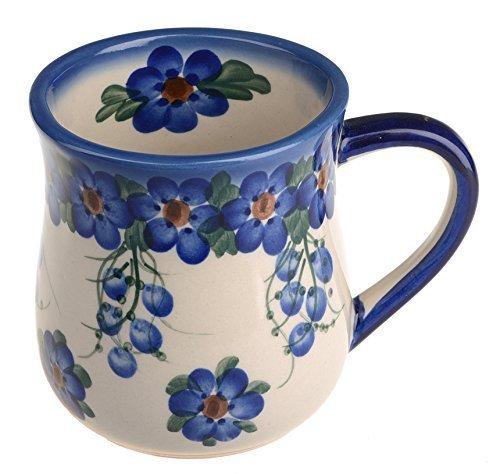 Classic Boleslawiec Pottery Hand Painted Ceramic Mug 0.35 litre 053-U-001 by BCV Boleslawiec Pottery