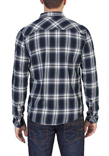 Blau 3084 Timezone Check Uomo deep Flannel Boland Blue Camicia agqxg8rI