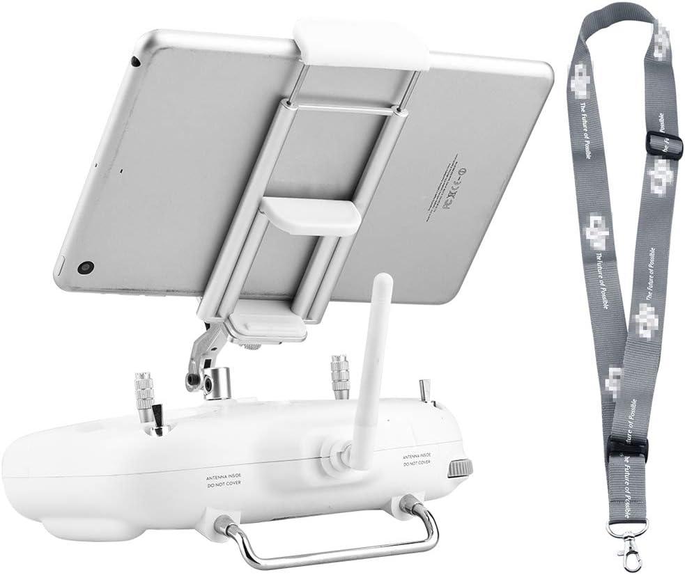 HeiyRC iPad Tablet Holder Bracket for DJI Phantom 3 Standard SE Phantom 2 Vision,Cellphone Phone Mount Lanyard Strap Accessory