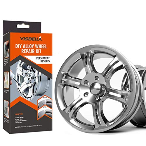 Visbella DIY Alloy Wheel Repair Adhesive Kit Rim Surface Damage Car Auto Rim Dent Scratch Care (Paper Packaging) (hub-227) (The Best Alloy Wheels)