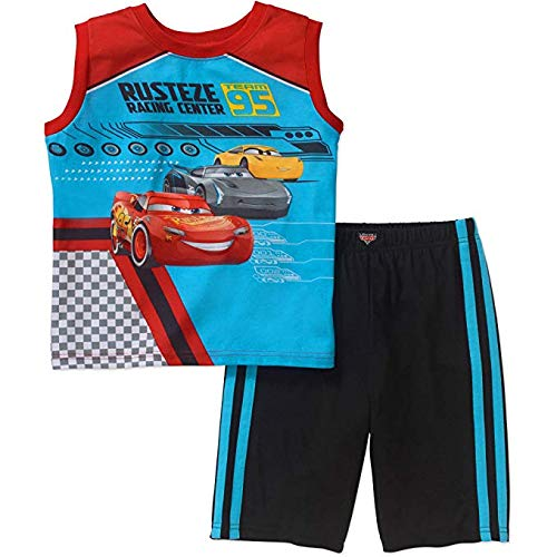 Disney Cars Lightning McQueen Boys Little Boys 2 Piece Tank /& Shorts Pajama Set