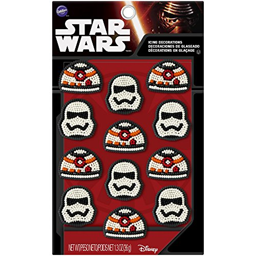 Wilton 710-5080 Star Wars Icing Decorations (12 Pack), Multicolor ()
