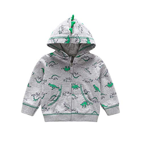 70e72028a Tronet Baby Boy Girls Dinosaur Pattern Hooded Coat Jacket Winter Warm with  Zipper Outfits