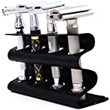 Parker's Double Edge Safety Razor Stand - Holds Four Razors - Great for Parker, Merkur, Gillette and All Other Standard Safety Razors (Black)