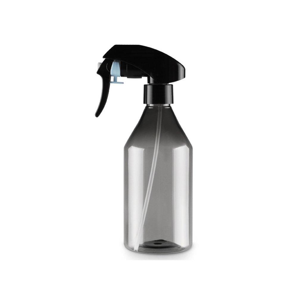 UxradG 300 ml Bottiglia di plastica parrucchieri spray Small Sized colpo fiori a forma di fiore spruzzino per piante Portable Hair styling Tools Salon, 17,3 x 18,7 cm, Nero, Taglia libera 3x 18 7cm